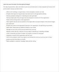 good resume for accounts executive responsibilities for marketing account executive job description resume paso evolist co
