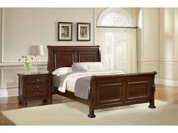 Indiana Bedroom Furniture by Vaughan Bassett Furniture Company Bedroom Reflections Sleigh King