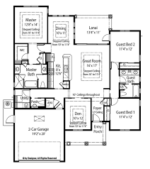 den floor plan mediterranean style house plan 3 beds 2 5 baths 1872 sq ft plan