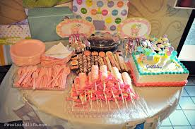 Baby Shower Table Setup by Sweets And Life We Had A Baby Shower