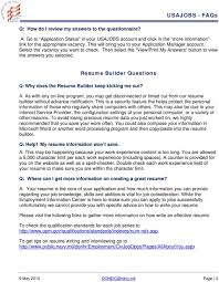 usajobs gov resume builder usajobs resume builder visit our tutorial usajobs resume builder usajobs applicant frequently asked questions faqs pdf federal resume