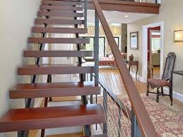 Cable Banister Floating Staircase And Cable Railing Katonah Ny