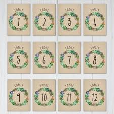 table numbers wedding 107 sets of free printable wedding table numbers