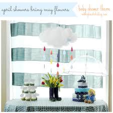 april showers themed baby shower gluesticks