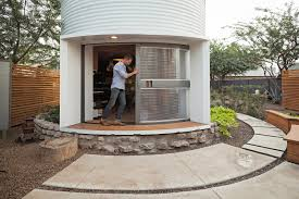 Mid Century Modern Tiny House by Grain Silo Converted Into A Cozy 340 Square Foot Small House