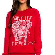queen apparel save the elephants sweatshirt queen apparel