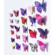 3d butterfly 12pcs stickers stickers wall stickers crafts