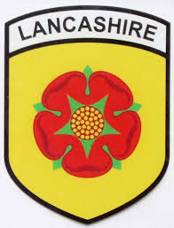 County Flags Lancashire County Flag Car Sticker Shield Self Cling