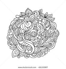zentangle doodle patterned fantasy fish isolated stock vector