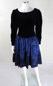 Prom Dresses From The 80s Laura Ashley Navy U0026 Black Prom Dress 80s Dresses