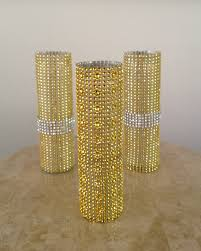 lettre decorative metal gold and silver bling vases glamorous weddings pinterest