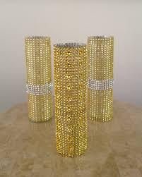 gold and silver bling vases glamorous weddings pinterest