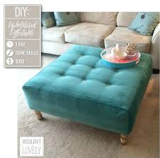 Upholster Ottoman Upholstered Ottoman Coffee Tableeasy Table Tufted Diy