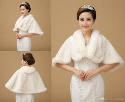 ivory winter wedding dress bolero bridal fur wraps warm frozen
