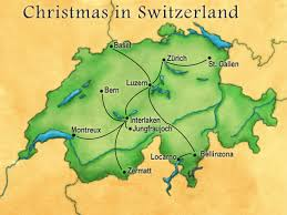 Christmas Map Christmas In Switzerland Christmas Markets Alps