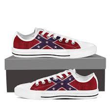 Black And White Rebel Flag Confederate Flag Shoes U2013 Groove Bags