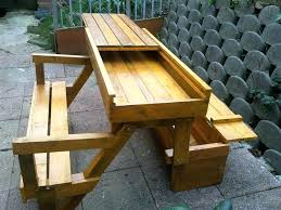 Folding Bench Picnic Table Folding Bench Picnic Table Treated Timber Picnic Table With