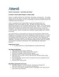 Architect Resume Samples Pdf by Enterprise Data Architect Cover Letter