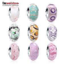 glass beads pandora bracelet images Hot sale lzeshine new fashion colorful glass beads charms fit jpg