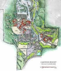 Vail Village Map The Canyons Resort Master Plan Park City Ut Fairway Springs Golf