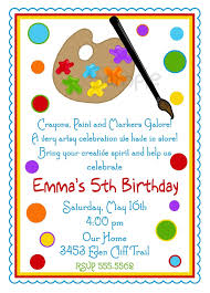 Party Cards Invitations To Print Art Invitations Art Party Painting Birthday Party Paint