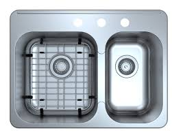 Kitchen Sinks Drop In Double Bowl by Ancona Capri Drop In 27 1