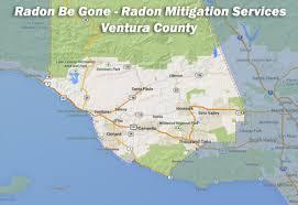 ventura county map radon be radon mitigation in ventura county