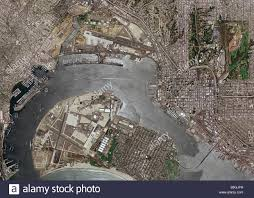 Naval Base San Diego Map by Aerial Map San Diego California Naval Base Airport Stock Photo
