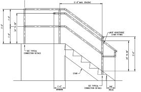Banister Railing Code Stair Railing Height Stair Railing Height For Deck Stair Railing