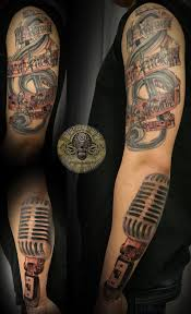 Drummer Tattoo Ideas Music Drums Note Micro Sleeve Tattoos Photo 2 Photo Pictures