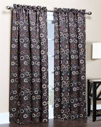 Curtains For Light Brown Walls Amazon Com Solar Modern Print Blackout Curtain Panels 54