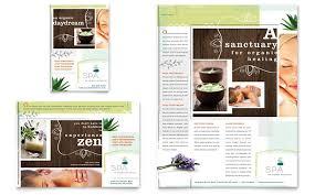 day spa flyer u0026 ad template designspa brochure template spa
