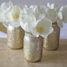 jar vase gold glitter jar vase for wedding centrepieces the wedding of my