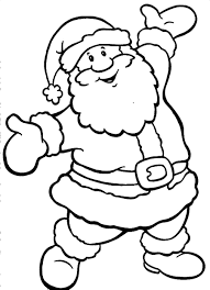 santa coloring pages www bloomscenter com