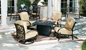 Gas Fire Pit Table And Chairs Residential Woodard Furniture