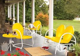 Yellow Patio Chairs Retro Furniture Outdoor For Relaxation