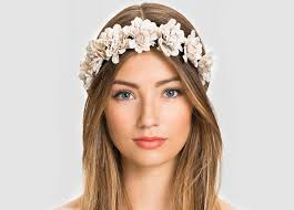 hair band woven floral hairband crown vine