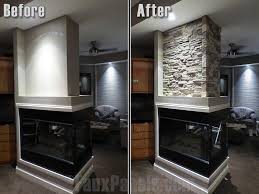 stacked rock fireplace dact us