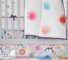 margherita missoni printed floral crib skirt pottery barn kids