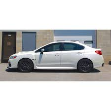 subaru white 2017 racecomp engineering yellow lowering springs 2015 2017 wrx