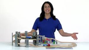 Imaginarium Train Set With Table 55 Piece Imaginarium Express Timber Log Spiral Train Set Toys