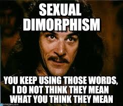 You Keep Using That Word Meme - sexual dimorphism you keep using that word meme on memegen