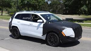 light blue jeep cherokee 2018 jeep cherokee spied possibly with conventional headlights