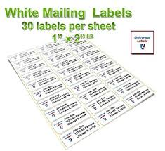 Mailing Label Templates 30 Per Sheet Amazon Com Universal Labels 30 Up Address Labels Fba Labels