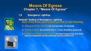 nfpa 101 emergency lighting nfpa 101 life safety code means of egress presented by ppt download