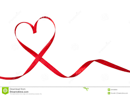 heart ribbon ribbon in heart shape stock photo image of symbol 26438966