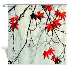 Red And Black Bathroom Accessories by Tree Shower Curtain Mint Red Black Bathroom Decor Tree