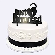 divorce cake toppers divorce party cake topper just divorced heart
