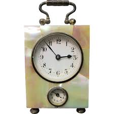 mother of pearl clock cartier limited edition mother of pearl desk