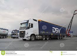 volvo truck 500 white volvo fh 500 semi truck at demo drive editorial photo